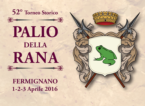 Fronte cartolina Palio della Rana 15x11