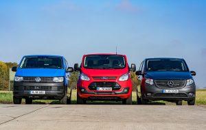 Test drive: Mercedes Benz Vito, Ford Transit Custom, Volkwagen Transporter