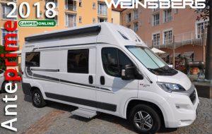 Anteprime 2018: Weinsberg, spazio ai nuovi CaraSuite, CaraBus 601DQ e CaraOne Edition [ICE]